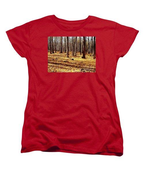 Autumn Leaves Women's T-Shirt (Standard Cut) by Vicky Tarcau