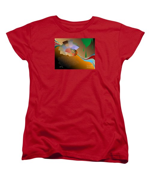 Women's T-Shirt (Standard Cut) featuring the digital art Autumn by Leo Symon