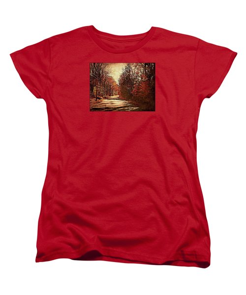 Autumn Norland's Road Women's T-Shirt (Standard Cut) by Joy Nichols