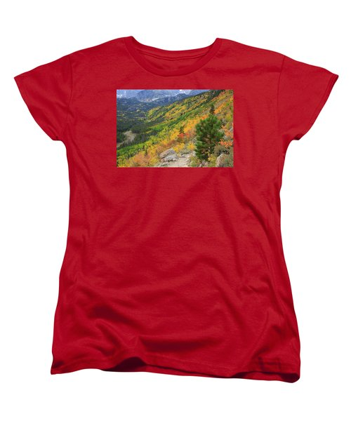 Women's T-Shirt (Standard Cut) featuring the photograph Autumn On Bierstadt Trail by David Chandler