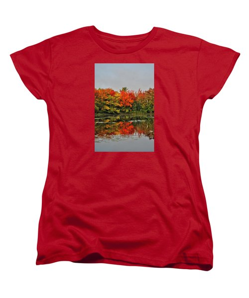 Women's T-Shirt (Standard Cut) featuring the photograph Autumn Portrait by Kathleen Sartoris