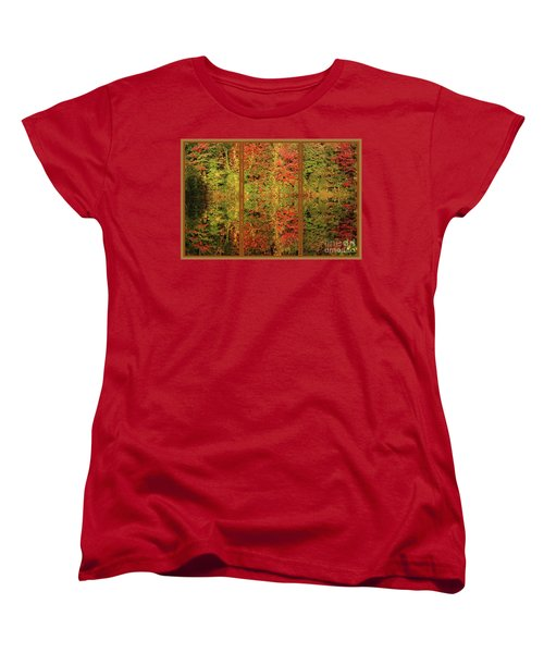 Autumn Reflections In A Window Women's T-Shirt (Standard Cut) by Smilin Eyes  Treasures