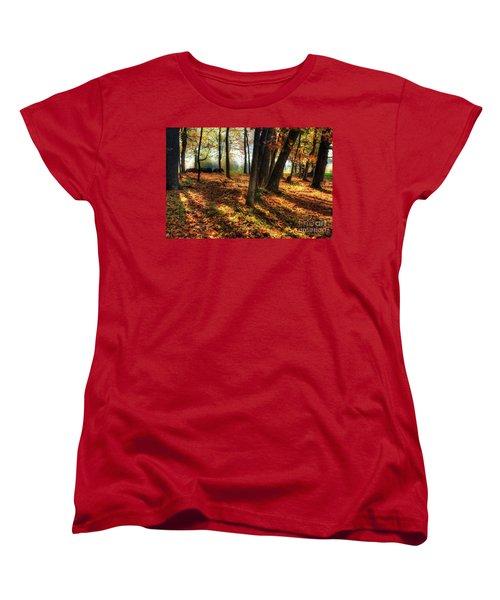 Women's T-Shirt (Standard Cut) featuring the photograph Autumn Shadows In The Blue Ridge by Dan Carmichael