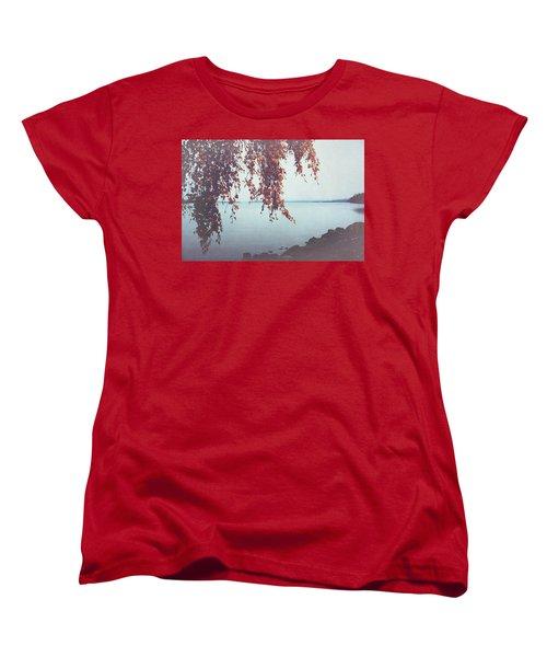 Women's T-Shirt (Standard Cut) featuring the photograph Autumn Shore by Ari Salmela