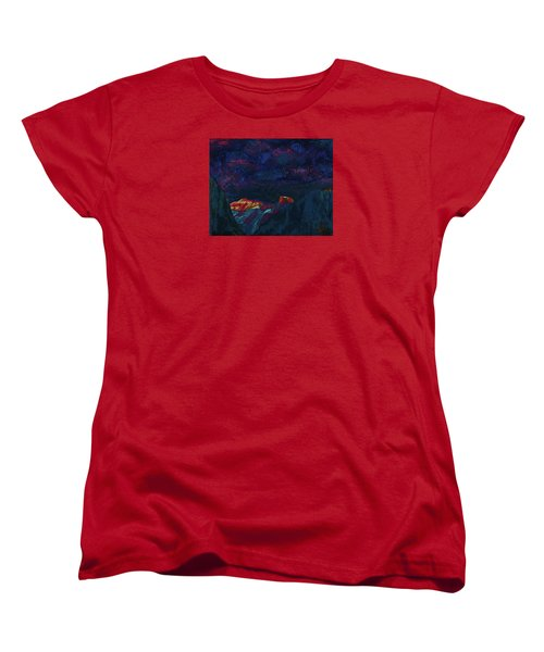 Autumn Sunset Over Half Dome 2013 B Women's T-Shirt (Standard Cut) by Walter Fahmy