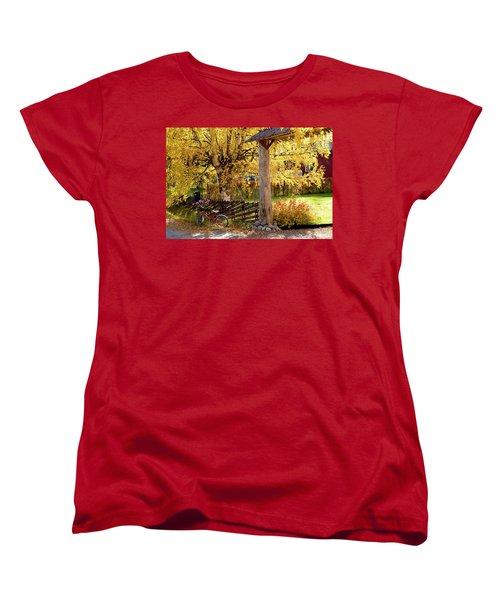 Rural Rustic Autumn Women's T-Shirt (Standard Cut) by Tamara Sushko