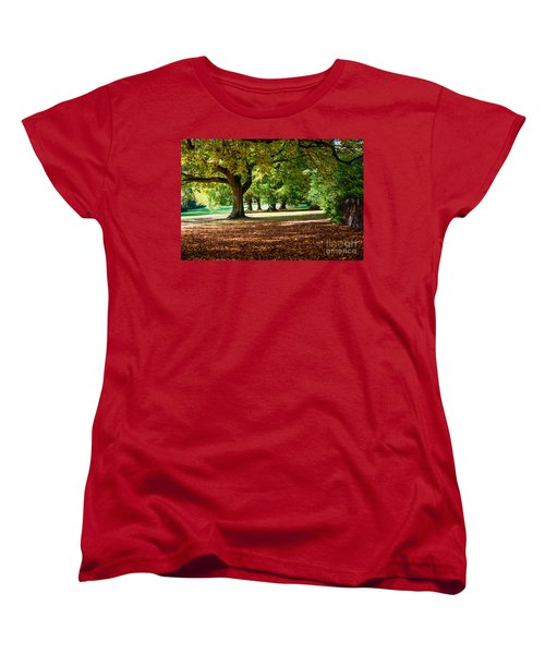 Women's T-Shirt (Standard Cut) featuring the photograph Autumn Walk In The Park by Colin Rayner