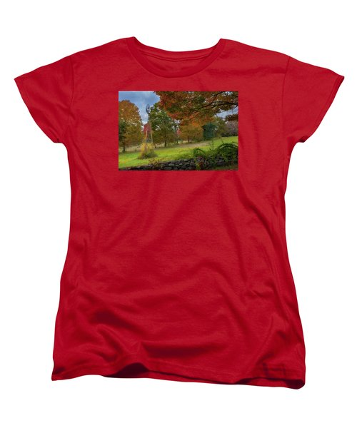 Women's T-Shirt (Standard Cut) featuring the photograph Autumn Windmill by Bill Wakeley
