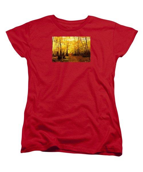 Autumns Blaze Women's T-Shirt (Standard Cut) by Steven Clipperton