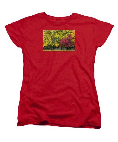 Autumn's Peak Women's T-Shirt (Standard Cut) by Jeremy Lavender Photography