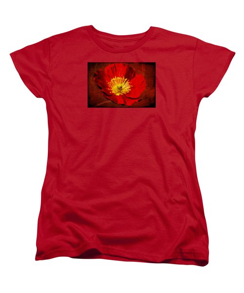 Women's T-Shirt (Standard Cut) featuring the photograph Awake To Red by Phyllis Denton