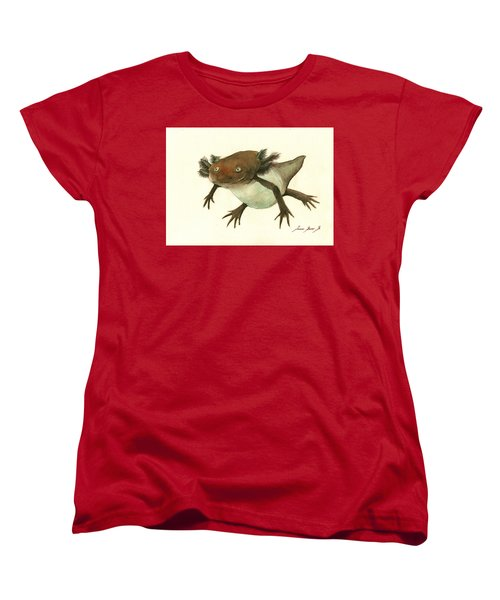Axolotl Women's T-Shirt (Standard Cut) by Juan Bosco
