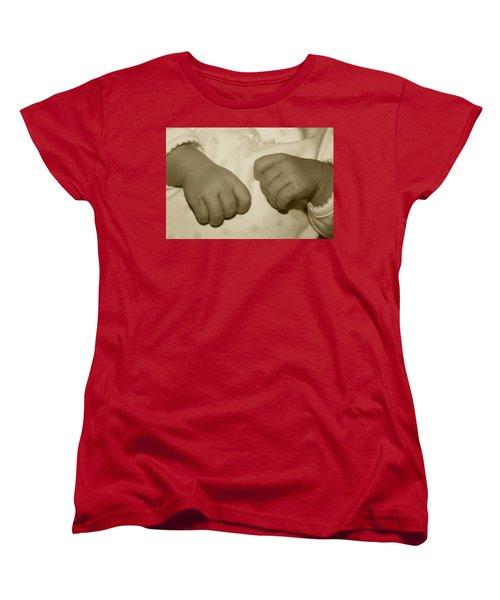 Baby Hands Women's T-Shirt (Standard Cut) by Ellen O'Reilly