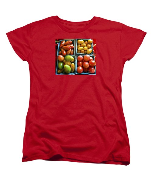 Baby Tomato Medley Women's T-Shirt (Standard Cut) by Dee Flouton
