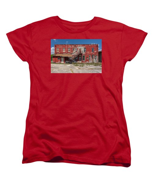 Women's T-Shirt (Standard Cut) featuring the photograph Back Lot by Christopher Holmes