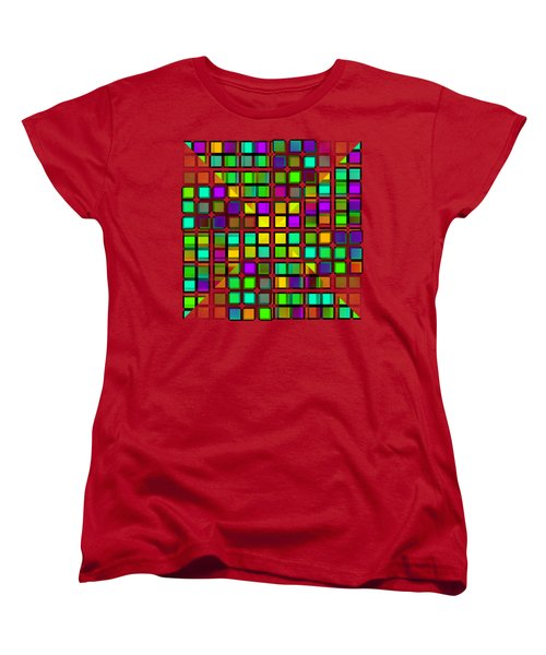Colour Choice Squares 2 Women's T-Shirt (Standard Cut) by Barbara Moignard