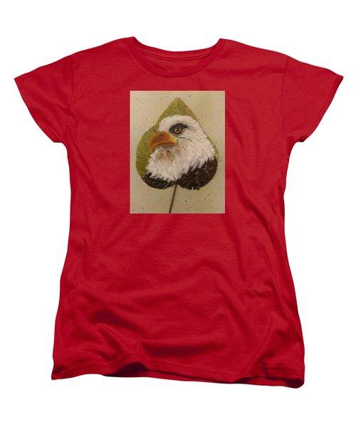 Bald Eagle Side Veiw Women's T-Shirt (Standard Cut) by Ralph Root