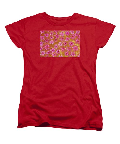 Balinese Flowers Women's T-Shirt (Standard Cut) by Cassandra Buckley