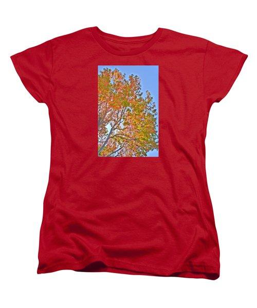 Ball To  The Wall Fall Women's T-Shirt (Standard Cut) by Derek Dean