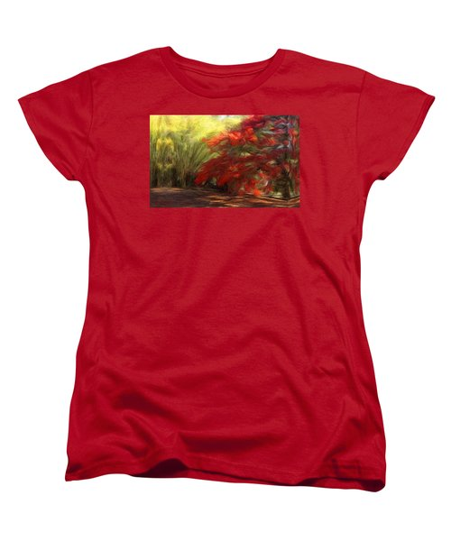 Bamboo And The Flamboyant Women's T-Shirt (Standard Cut) by Caito Junqueira