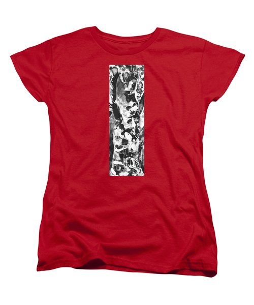 Women's T-Shirt (Standard Cut) featuring the painting Barber by Carol Rashawnna Williams