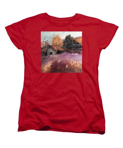 Barn And Birds  Women's T-Shirt (Standard Cut)