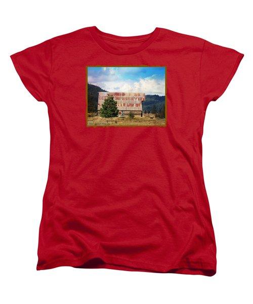 Barn Quilt Americana Women's T-Shirt (Standard Cut)