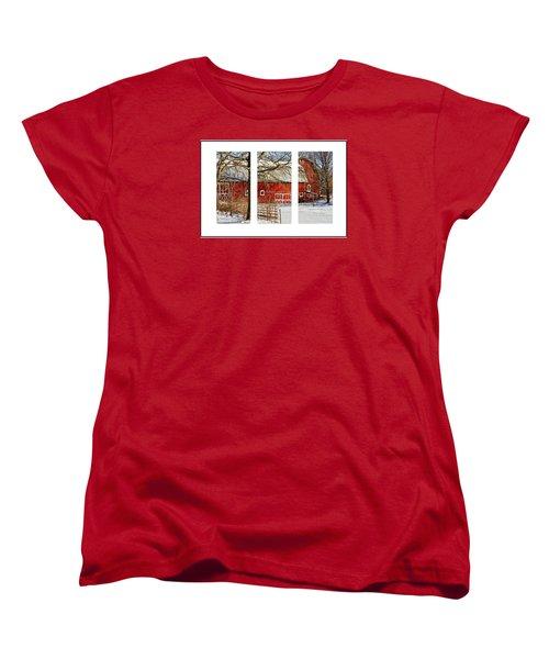 Barn Triptych Women's T-Shirt (Standard Cut) by Pat Cook