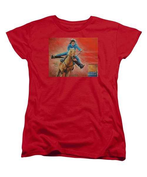 Barrel Racing Women's T-Shirt (Standard Cut) by Jeanette French