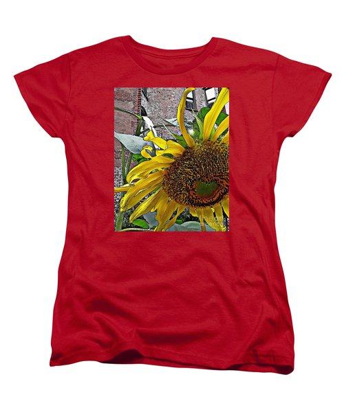 Barrio Sunflower 3 Women's T-Shirt (Standard Cut) by Sarah Loft
