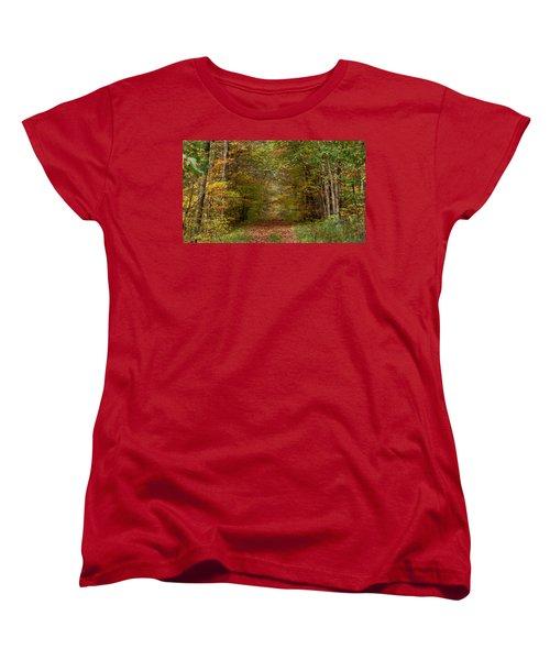 Women's T-Shirt (Standard Cut) featuring the photograph Baxter's Hollow  by Kimberly Mackowski