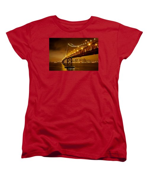 Bay Bridge Women's T-Shirt (Standard Cut) by Evgeny Vasenev