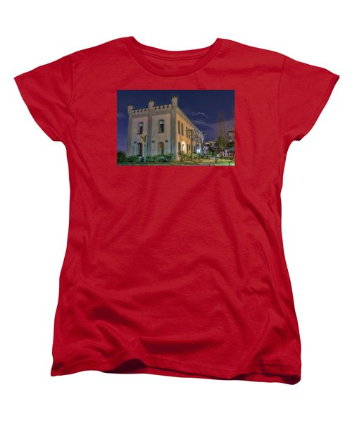 Women's T-Shirt (Standard Cut) featuring the mixed media B.c.penitentiary by Jim  Hatch