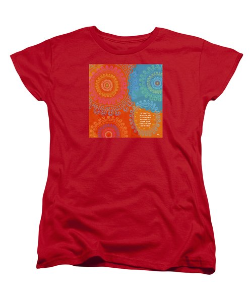 Women's T-Shirt (Standard Cut) featuring the painting Be Exactly Who You Are by Lisa Weedn