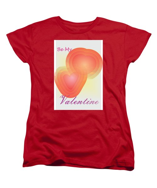Women's T-Shirt (Standard Cut) featuring the digital art Be My Valentine by Sherril Porter