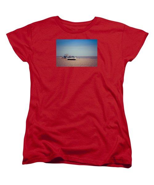 Beach Boats Women's T-Shirt (Standard Cut) by David Warrington