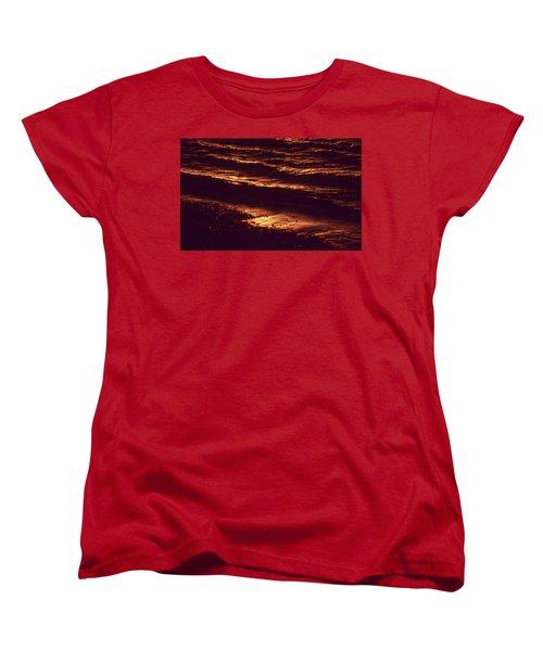 Women's T-Shirt (Standard Cut) featuring the photograph Beach Fire by Laurie Stewart