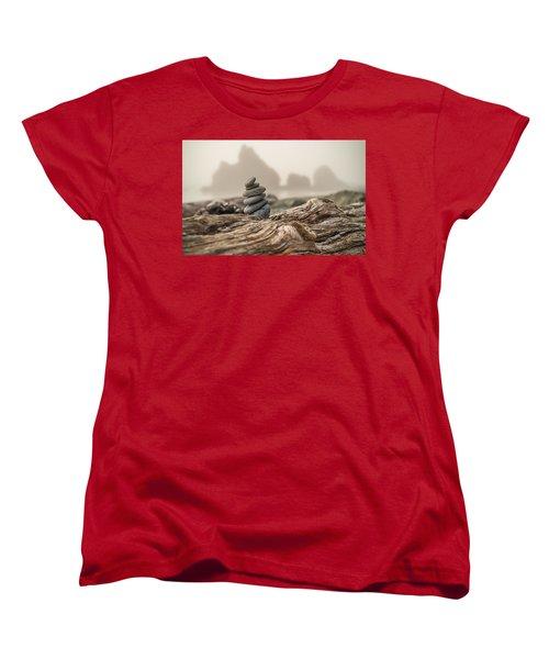 Beach Stack Women's T-Shirt (Standard Cut) by Kristopher Schoenleber