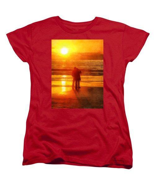 Beach Sunrise Love Women's T-Shirt (Standard Cut) by Francesa Miller