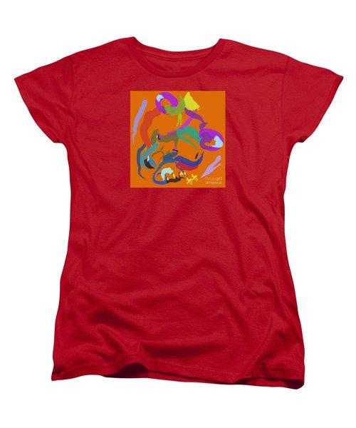 Women's T-Shirt (Standard Cut) featuring the painting Bear  by Go Van Kampen