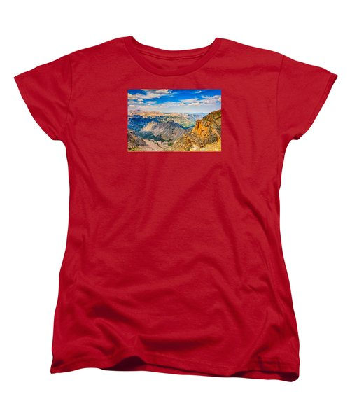 Women's T-Shirt (Standard Cut) featuring the photograph Beartooth Highway Scenic View by John M Bailey