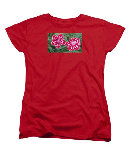 Beauties In My Garden Women's T-Shirt (Standard Cut) by Jeanette Oberholtzer