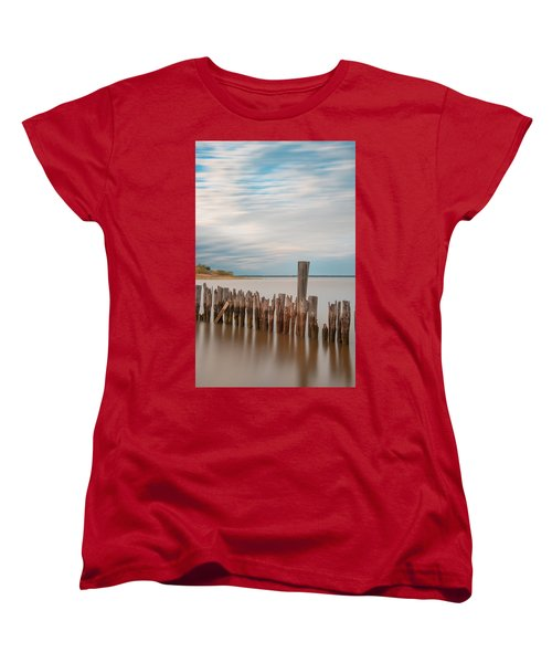 Beautiful Aging Pilings In Keyport Women's T-Shirt (Standard Cut) by Gary Slawsky