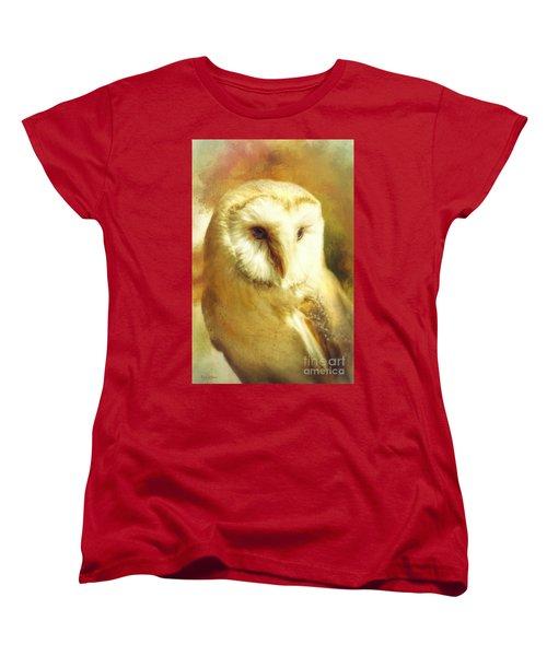 Beautiful Barn Owl Women's T-Shirt (Standard Cut) by Tina LeCour