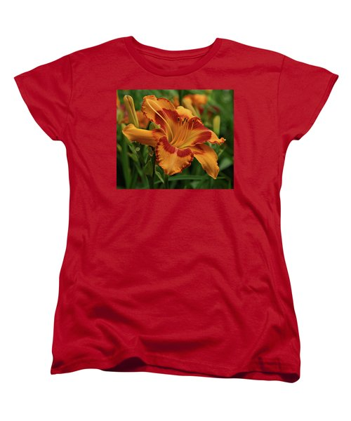 Women's T-Shirt (Standard Cut) featuring the photograph Beautiful Daylily by Sandy Keeton