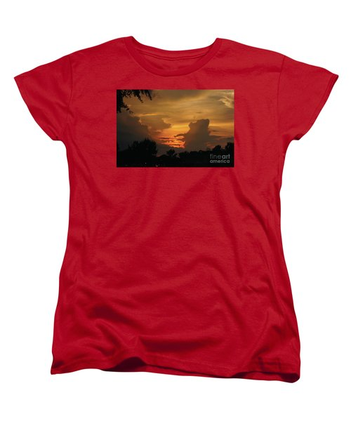 Beautiful Sunset Women's T-Shirt (Standard Cut) by Debra Crank
