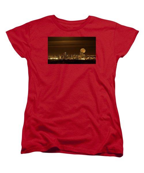 Women's T-Shirt (Standard Cut) featuring the photograph Beaver Moonrise by Kristal Kraft