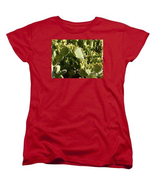 Beaver Tail Cactus, Cave Creek, Arizona Women's T-Shirt (Standard Cut) by Patricia E Sundik