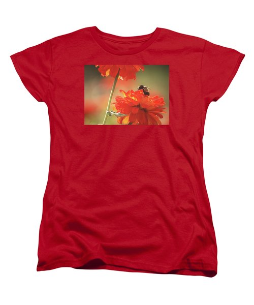 Bee And Flower II Women's T-Shirt (Standard Cut) by Donna G Smith
