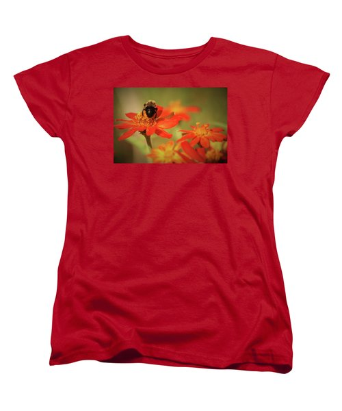 Bee And Flower IIi Women's T-Shirt (Standard Cut) by Donna G Smith